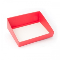 BOX TRAY RED HIGH BACK 400X320X150MM RED