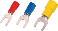 Insulated terminals 4-2,5 mm², fork type, blue