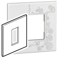 Arteor (British Standard) Plate 1 Module 1 Gang Square Tattoo | LV0501.0338