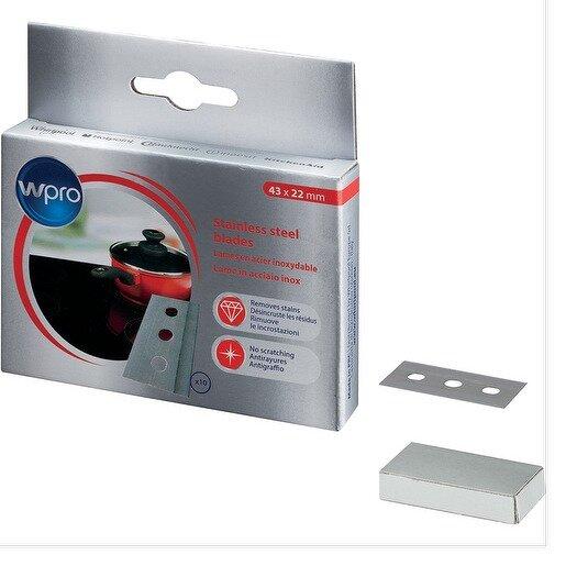 WPRO Ceramic Halogen Hob Scraper Stainless Steel Blades Pack Of 10 Genuine