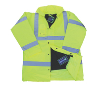Bodytech HiViz Coat, Yellow, C/W KN Logo