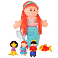 The Little Mermaid hand and finger puppet set