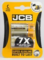 JCB BATTERY SUPER ALKALINE C CARD 2