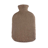 Cotton Covered 2L Hot Water Bottle Gold