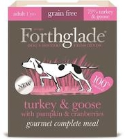 Forthglade Gourmet Dog Turkey & Goose with Pumpkin & Cranberry 395g x 7
