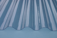 1.8 x 0.6 Metre Corrugated Clear PVC Roofing Sheet (6ft x 2ft)
