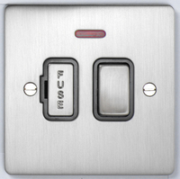 DETA Flat Plate Fused Spur with neon Satin Chrome with Black Insert | LV0201.0172