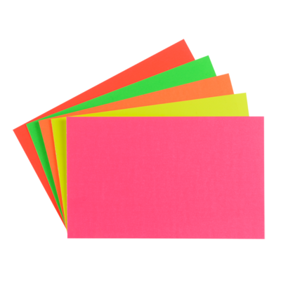"LYNX CA2 8"" x 6"" fluorescent card (10 Packs of 12)"