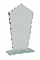 17cm Scalloped 4mm Glass Plaque in Plain Box
