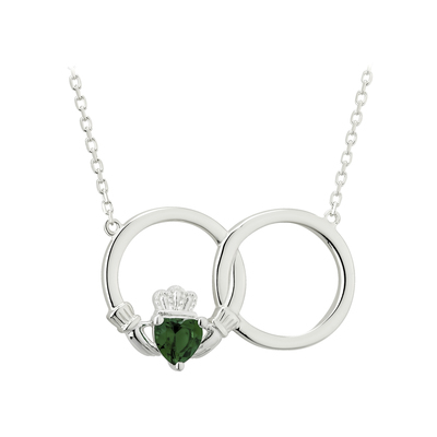 CRYSTAL CLADDAGH CIRCLE NECKLET