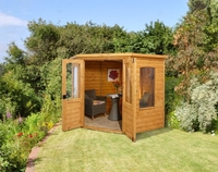 CRANBOURNE CORNER SUMMERHOUSE INSTALLED DIP SHIP - CRNRSUM77INST