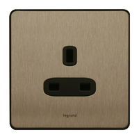 Legrand Synergy Single  13amp Socket Unswitched | LV0501.3236