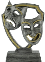 13.5cm Drama Plaque (Graphite & Gold)
