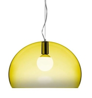 Kartell Fly Pendant K6 Yellow C/W Lamp