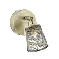 Lowell Semi Flush, Antique Brass with Mesh Shade | LV1802.0038