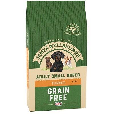 James Wellbeloved Small Breed Grain Free Turkey & Vegetable Dog Food 1.5kg