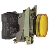 Telemecanique 24V Yellow Round LED Pilot Light