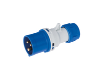 IP44 Quick Assembly Straight Plug 2 Pin + Earth 220-240V 16A