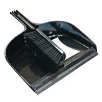 Leecroft Jumbo Dustpan and Stiff Brush Black (WT861/2)