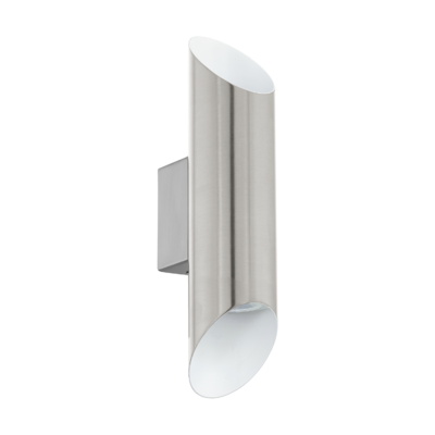 EGLO Viegas Satin Nickel and Shiny White Inside 2x3x3w 3000k LED | LV1902.0111
