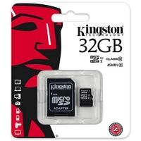 SDC04/32GB | Kingston Technology 32GB microSDHC, 4 MB/s, Black, Gold, 3.3V