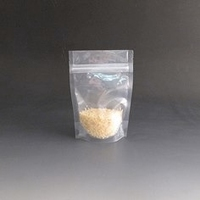 70g Clear/Clear stand up pouch.