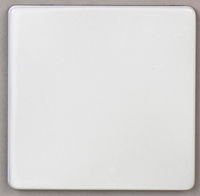 DETA Screwless 1g Blank Plate White Metal | LV0201.0013