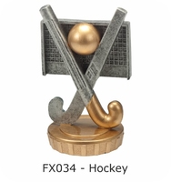 Hockey Flex Figure 75mm (Silver & Gold)