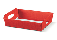 HAMPER 400x300x120 RED BASKET (13628) PK 30