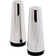 Cruet Set Conical Stainless Steel 120mm High x 40mm Dia