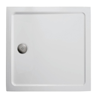 900MM X 900MM LOW PROFILE SHOWER TRAY C/W WASTE
