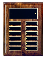 12 Plate Solid Walnut Perpetual Plaque