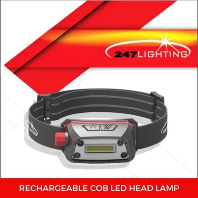 Rechargeable COB LED Head Torch