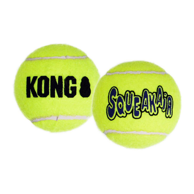 Kong Air Squeaker Tennis Ball x 3 - Medium
