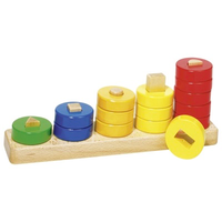Wooden toddler sorting and stacking game