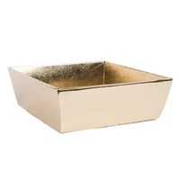 BOX TRAY 210X210X90CM GOLD METALLIC