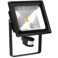 ENLITE 50W LED FLOOD LIGHT 220-240V 3750LM 4000K COOL WHITE 25,000HRS WITH PIR