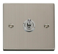Click Deco Victorian Stainless Steel 1Gang 2 Way Toggle Switch | LV0101.1863