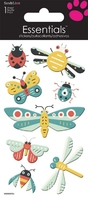 >< Colourful Bugs Essential Craft Sticker.