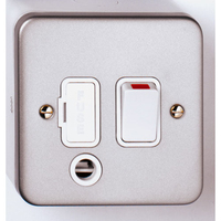 13A DP Switched Metal Clad Spur + Outlet