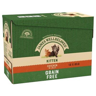 James Wellbeloved Kitten Grain Free Chicken Pouches 12 x 85g