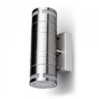IP44 Glass GU10 2 Way Wall Light
