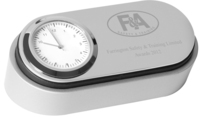 9cm Nickel Plated Clock | TC110