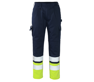 MASCOT Patos High Visibility Trousers Navy/Hi-Vis Yellow