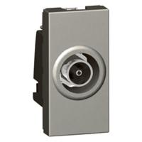 Arteor TV Type F 1 module - Magnesium  | LV0501.0074