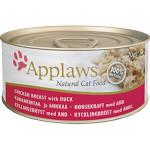 Applaws Cat Can - Chicken & Duck 70g x 24