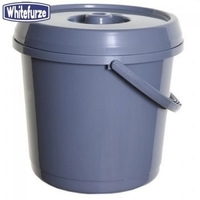 WHITEFURZE 14 LITRE BUCKET WITH LID  SILVER