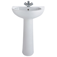 Mito Contract Washbasin 550mm 2Taphole K36-004