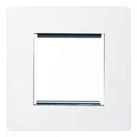 ScrewlessFlatplate 2g euro mod plate White LV0701.0271