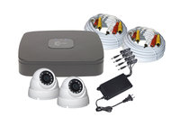 C2 Max - 4 channel DVR with 1TB HDD and 2 x 1080P 2.8mm IR White Dome Cameras